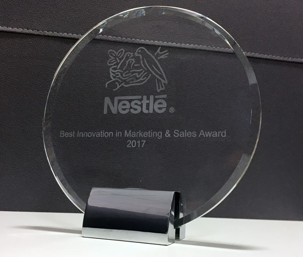 Nestlé Best Innovation in Marketing & Sales award 2017